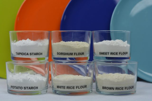 A measure of various flours that can be used when Gluten Free Baking By Weight