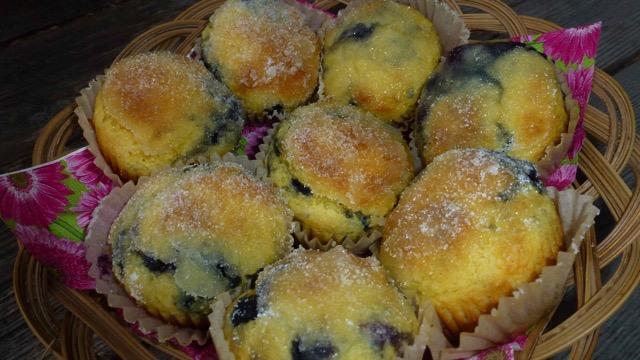 Cornmeal Blueberry Muffins