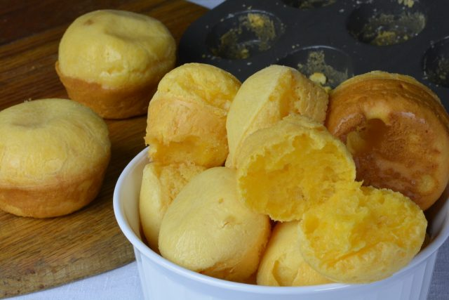A bowl of Brazilian Cheese Bread
