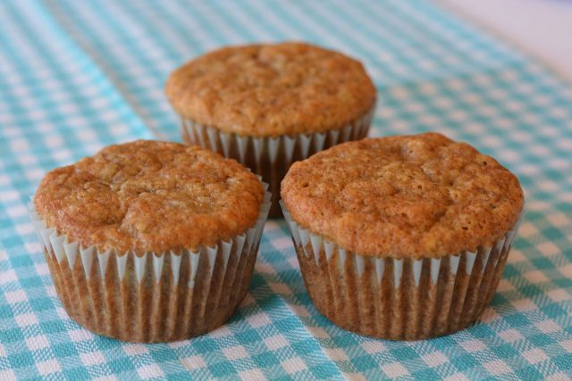Gluten free Banana Muffins just out of the oven.