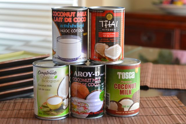 Cans of Gluten Free Coconut Milk