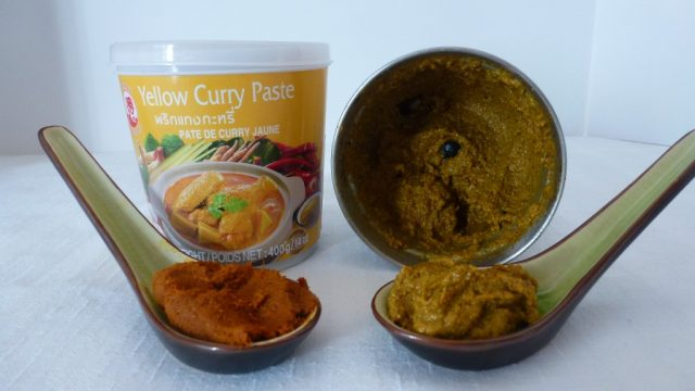 A comparison of homemade and store bought gluten free Thai Yellow Curry Paste