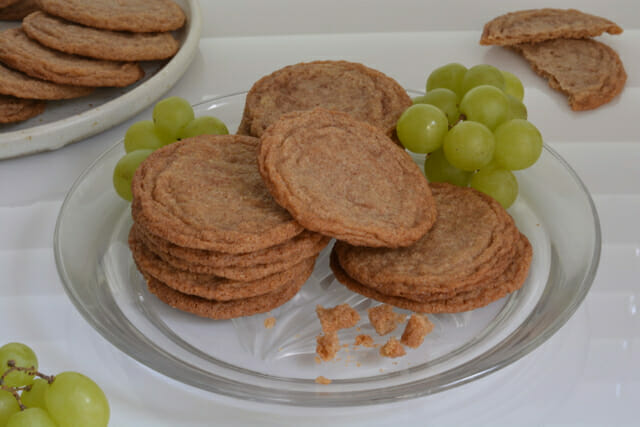 A plate of crispy cinnamon Snickerdoodles