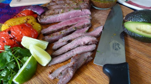 This gluten free Grilled Flank Steak with Chipotle-Honey Sauce